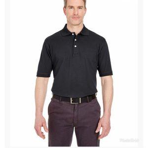UltraClub Men Classic Platinum Polo Sport Shirt